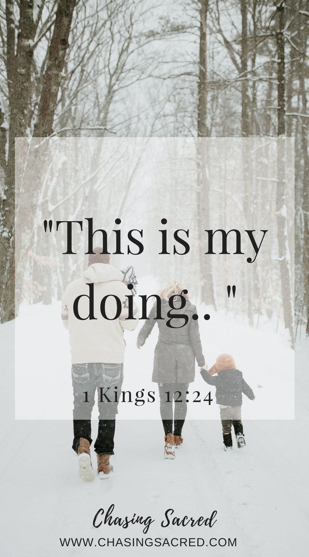 This is my doing | Chasing Sacred